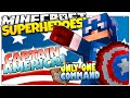 Minecraft   How To Be A Superhero!   CAPTAIN AMERICA!   Only One Command (One Command Creation)