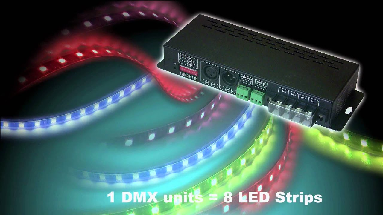 How to control led strips over dmx ledstripstudio youtube aloadofball