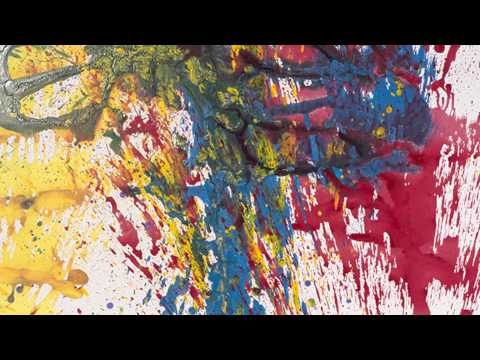 Shozo Shimamoto Throws Paint on the Walls at Debuck Gallery in NYC
