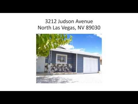 North Las Vegas NV Home For Sale 3212 Judson Avenue 89030