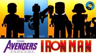 Avengers Endgame Iron Man Hall of Armor Captain Marvel Spider-Man Unofficial LEGO Minifigures