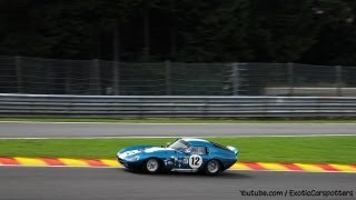 Shelby Daytona Cobra Coupe on Track - LOUD Revs | Crazy Fly By's | Downshifts - 1080p HD