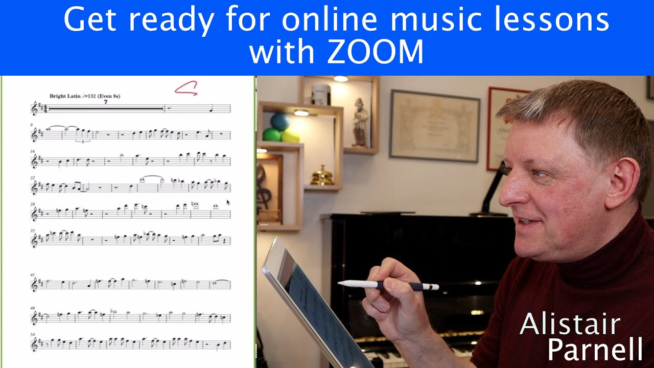 Get ready for online music lessons with ZOOM