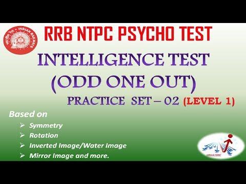 INTELLIGENCE TEST (ODD ONE OUT) PRACTICE SET - 02 (Level 1)