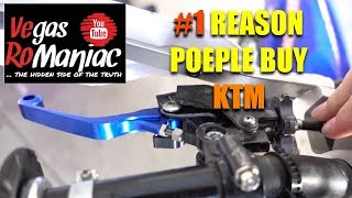 #1 reason why people buy KTM 🤔 Sales Gimmick or real advantage Cable vs Hydraulic
