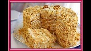 Торт со сгущенкой.  Как приготовить торт на сковороде за полчаса