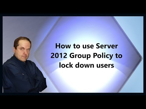 How to use Server 2012 Group Policy to lock down users