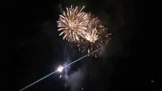 O fogo de artifício festejou a chegada da Rainha Santa Isabel à Baixa de Coimbra