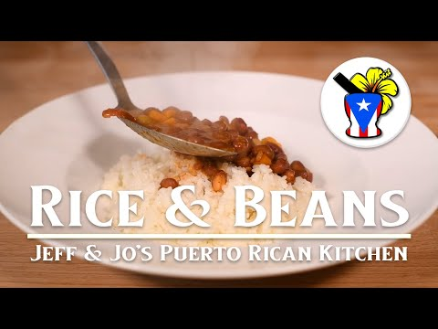 Easy Puerto Rican Recipes - Rice & Beans