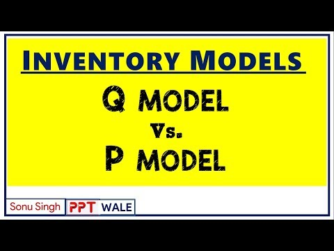 INVENTORY MODELS | FIXED ORDER QUANTITY & FIXED TIME PERIOD MODEL | Q vs P MODELS | BBA/MBA | ppt