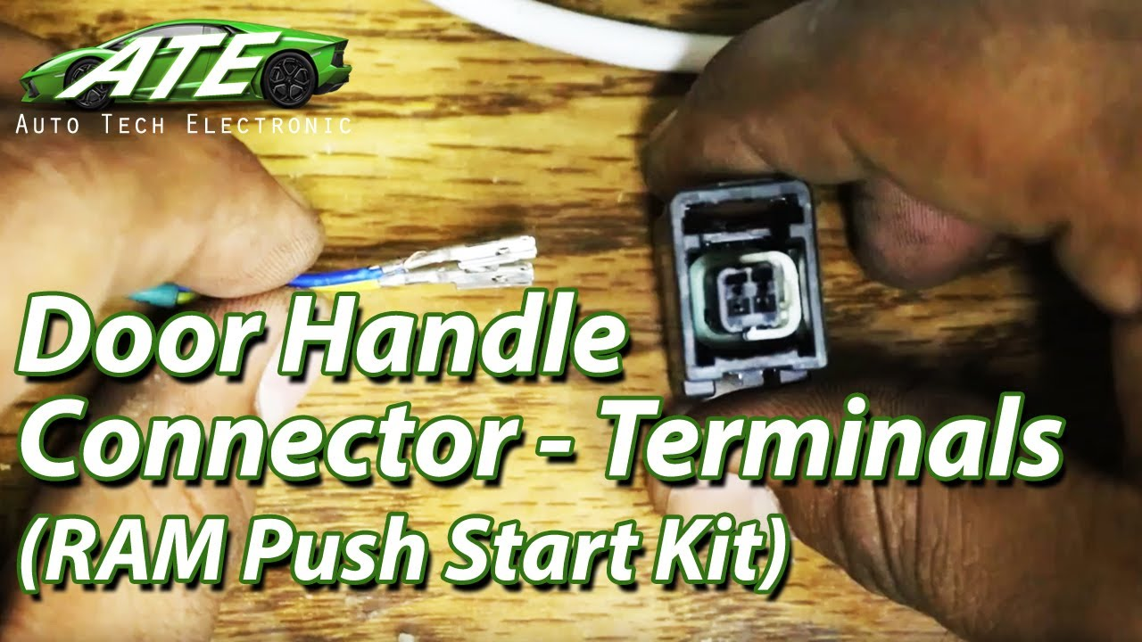 Connecting/Disconnecting Terminals to Door Handle Connector (RAM Push Start  Kit)