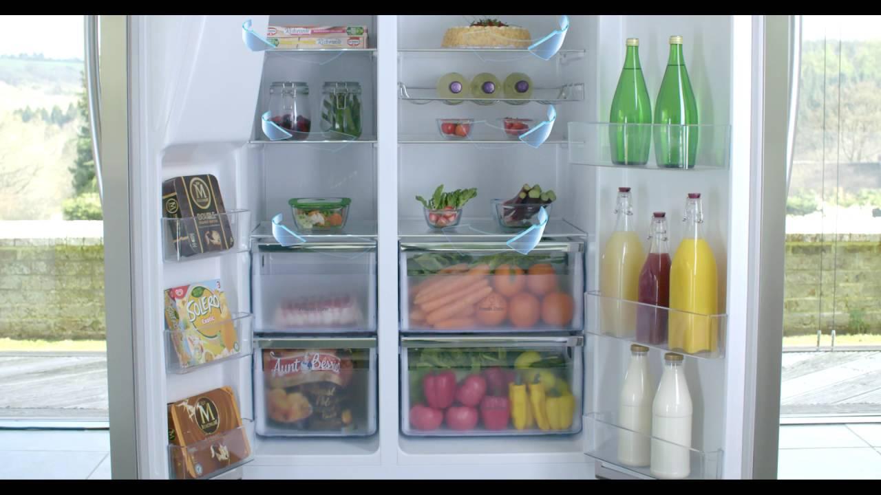 Side By Side Kühlschrank Hisense : Hisense side by side rs695 youtube