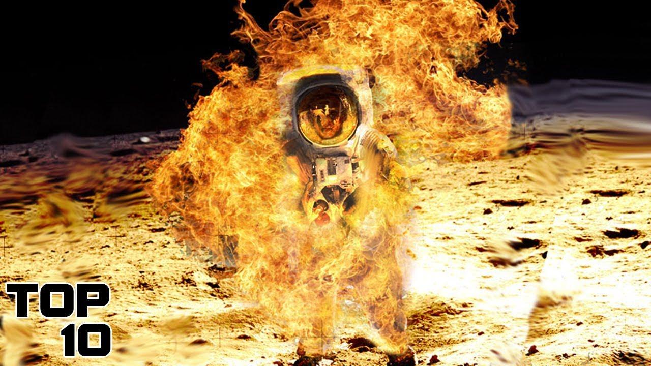 astronaut on fire - 644×700