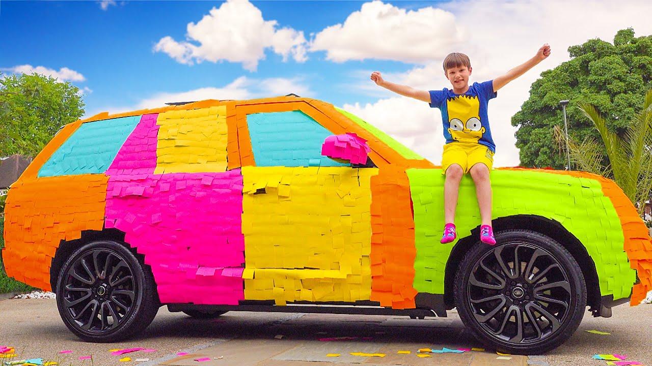 Макс и Катя раскрасили папину машину