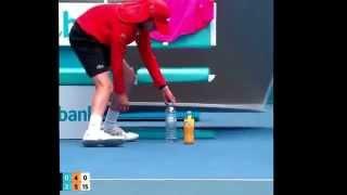 The Dilemma of the Nadal bottles!! (AustralianOpen 2015)