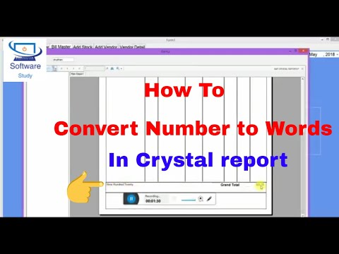 How To Convert Number To Words In Crystal Report Formula Using Visual Studio
