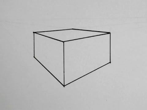 apprendre dessiner un cube en perspective hellokids. Black Bedroom Furniture Sets. Home Design Ideas