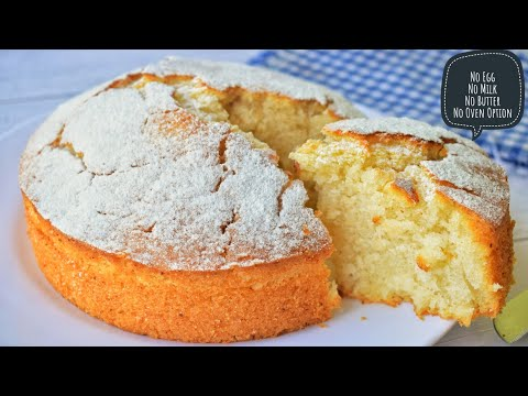 Lockdown Cake Recipe Without Egg, Milk, Curd, Butter |No Oven Option | Vegan Vanilla Cake | Low Cost