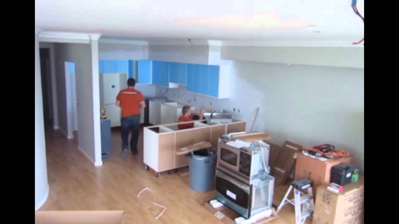 IKEA Abstrakt Grey and White Kitchen Install - YouTube