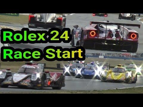 2018 Rolex 24 Hours of Daytona Race Start