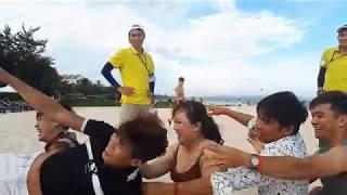 Team building tapack ở bãi biển mũi né phan thiết