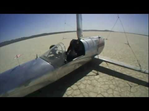 "Landsailing the ""Flash"" 80+mph Landsailer"