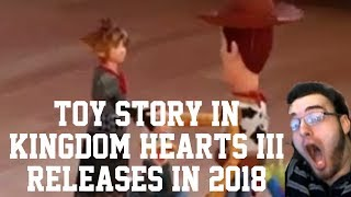 KINGDOM HEARTS 3 D23 2017 TRAILER REACTION! TOY STORY CONFIRMED! RELEASE WINDOW CONFIRMED!