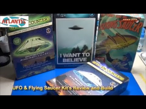 UFO & Flying Saucer Model Kit's Review and Build