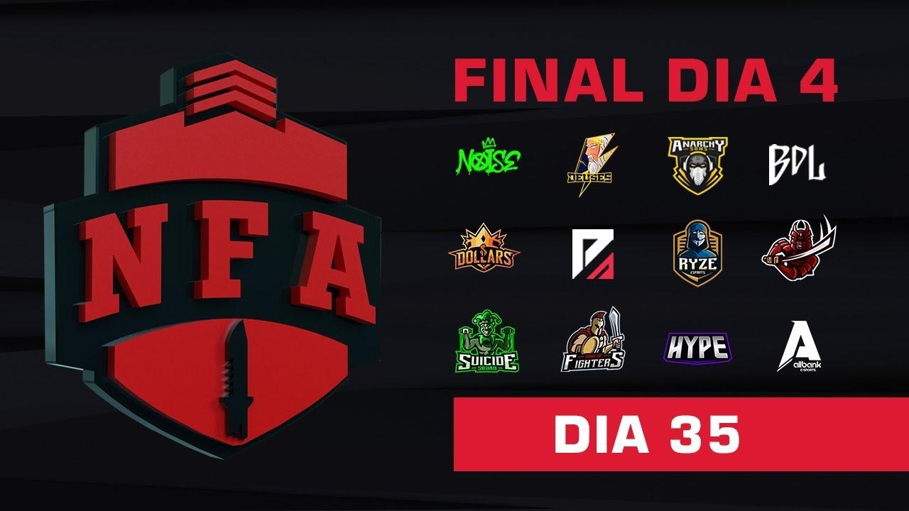 FREE FIRE AO VIVO - FINAL DIA 4 - LIGA NFA SEASON 4 - #NFAS4