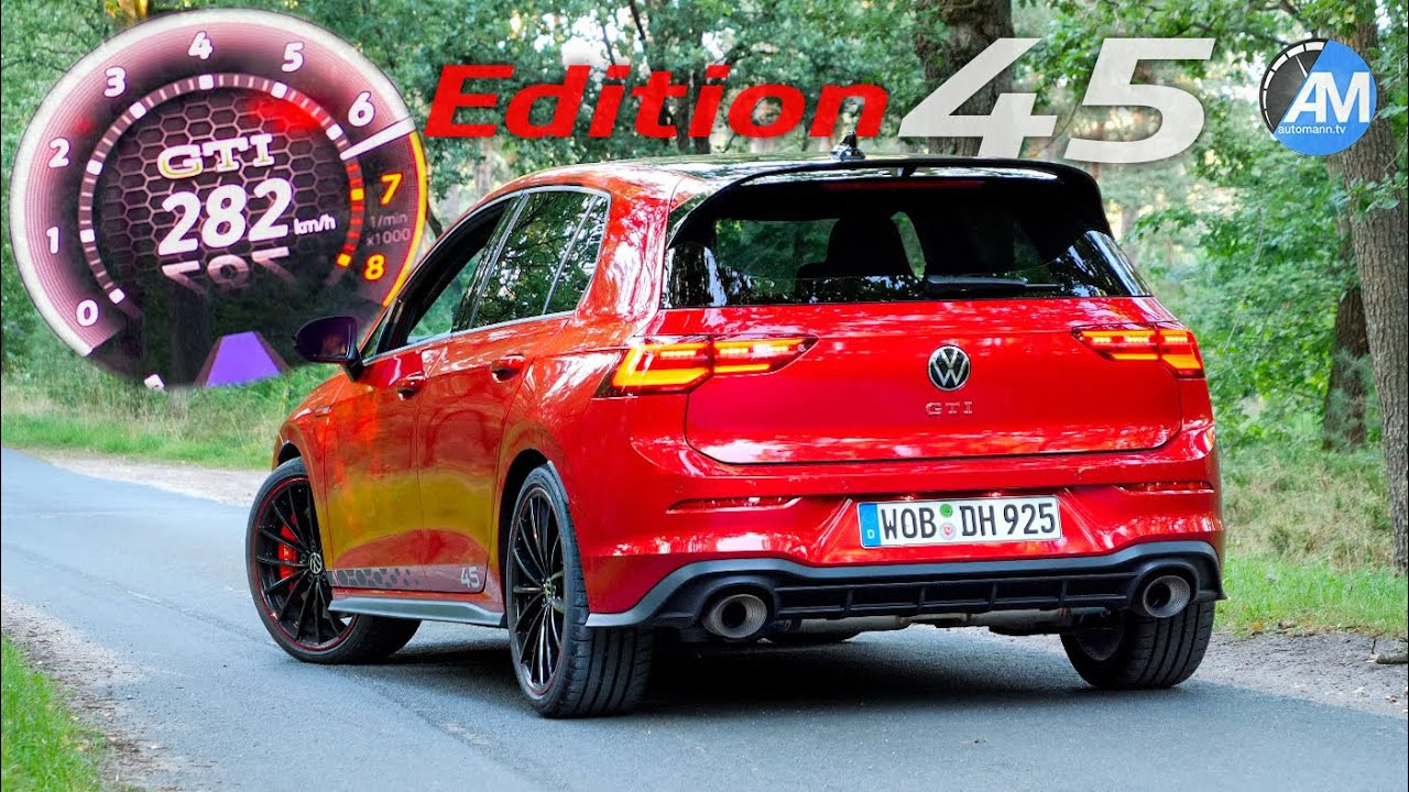 NEW! Golf 8 GTI Edition 45   0-282 km/h acceleration🏁   by Automann in 4K