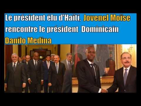 Jovenel Moïse a rencontré son prochain homologue Danilo Medina à Santo Domingo