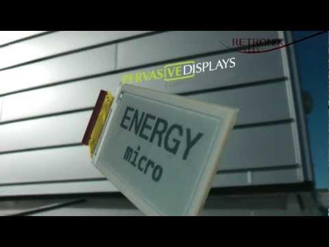 Electronic Paper Display, E-Paper, E-Ink, EPD. EFM32 Cortex-M3. PDI