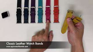 Leather Watch Bands Review - Classic Leather Watch Bands for Apple Watch