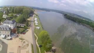 Drone emplacement camping car La Mailleray sur Seine