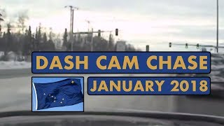 Dash Cam | POLICE CAR CHASE | Snow | Shots Fired | January 2018
