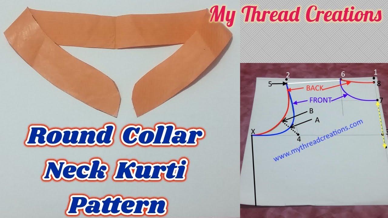 How To Make Round Collar Neck Pattern