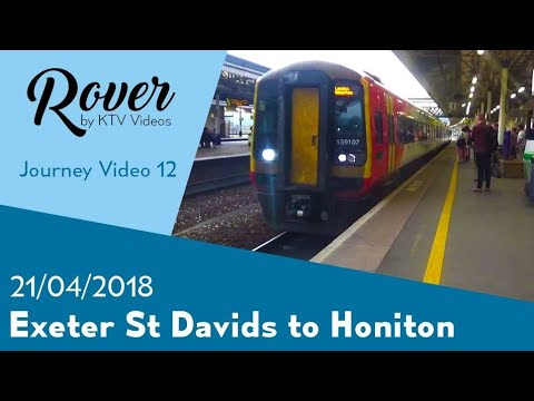 Exeter St Davids to Honiton Journey Video