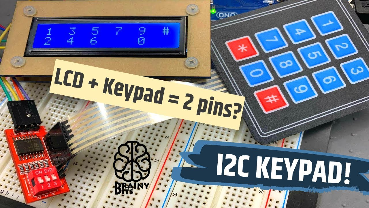 A Keypad + LCD with only 2 Pins?! No problem with the I2C