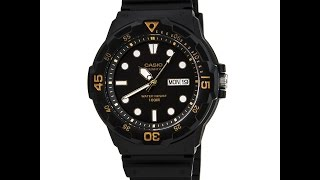 Casio MRW200H-1E Men's Classic Sport Black Dial Dual Time Resin Strap Watch Review Video