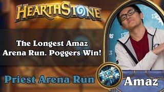 Hearthstone Arena - The Longest Amaz Arena Run. Poggers Win!