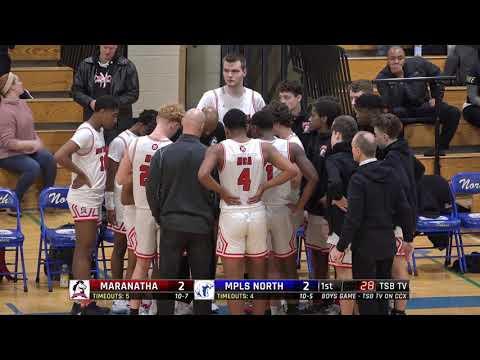 High School Boys Basketball: Maranatha Christian Academy Vs. Minneapolis North (2020)