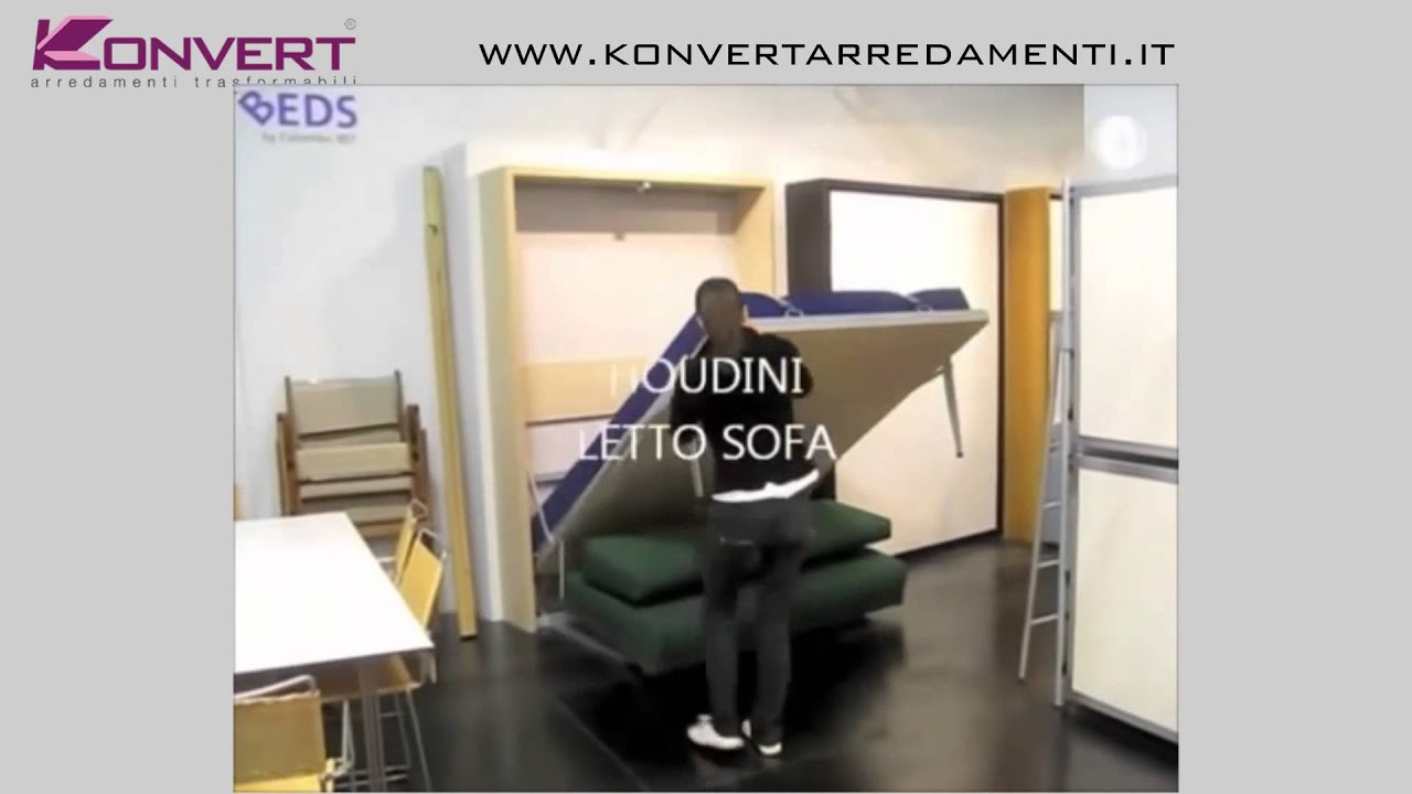 Letto a scomparsa smart beds houdini verticale colombo907 - Letto a scomparsa verticale ...