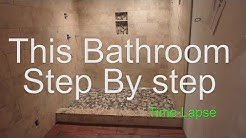 Complete bathroom shower install time lapse start to finish linear drain