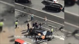 Vladimir Putin's BMW7 Car Crash in Moscow