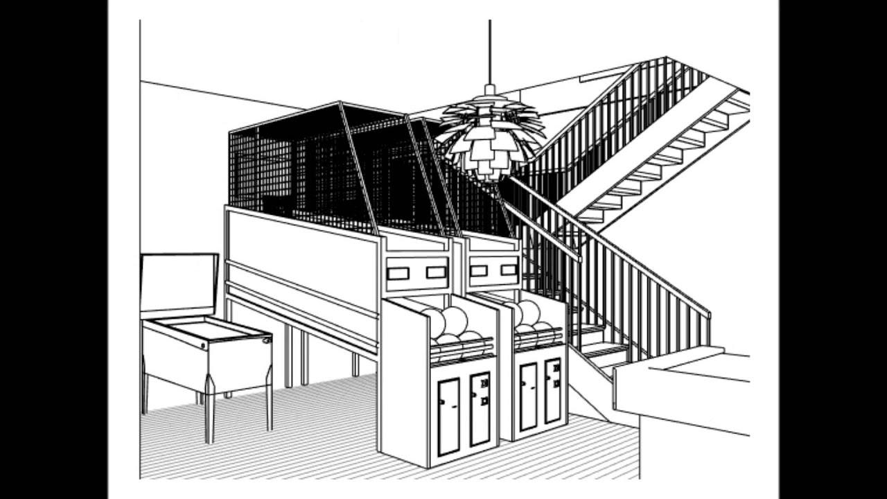 Line Art Render : Walkthrough house intro revit ds max hidden line youtube