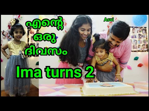 Ima's Birthday Celebration At Home|Ima Turns 2|A Day In My Life In Malayalam|DIY Decorations |Asvi