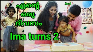 Ima\'s birthday celebration at home|Ima turns 2|A day in my life in malayalam|DIY decorations |Asvi