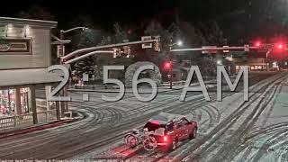 Фото Jackson Hole Wyoming Town Square❄ Snowfall 10142017 🚗 Red Car