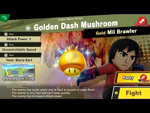 1302. [EVENT] Golden Dash Mushroom - Fair Spirit Battle - Super Smash Bros. Ultimate thumbnail