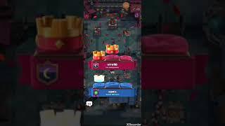 Playing game clash royale